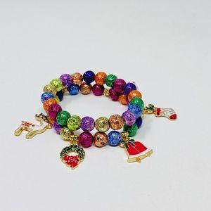 NWOT Sparkling stackable ornament bracelet